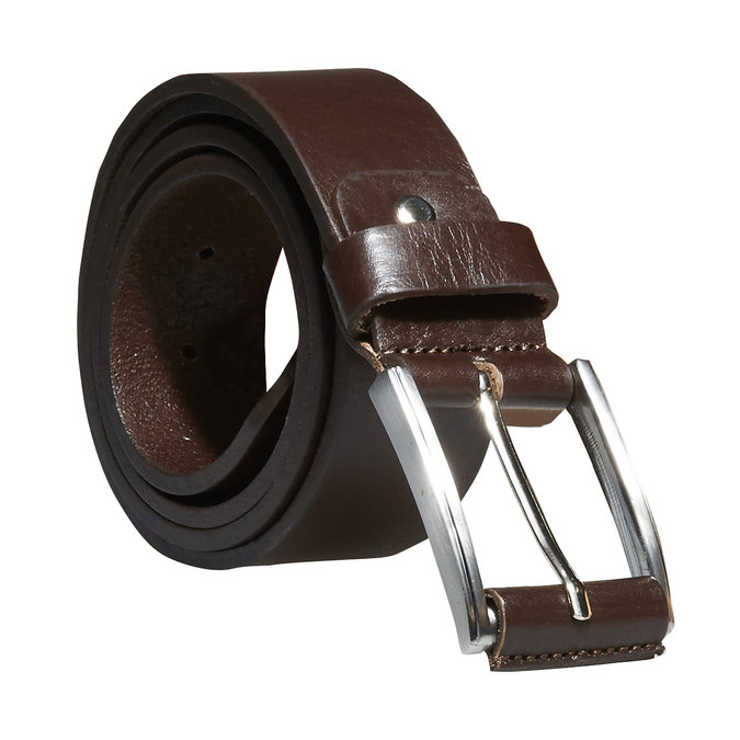 Classical leather belt bata, brown , 954-4833 - 13