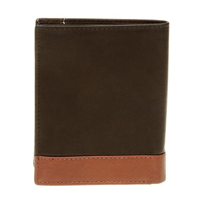 Men's leather wallet bata, black , 944-6150 - 26