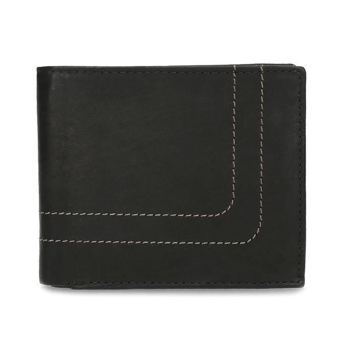 Men's leather wallet bata, brown , 944-6147 - 26