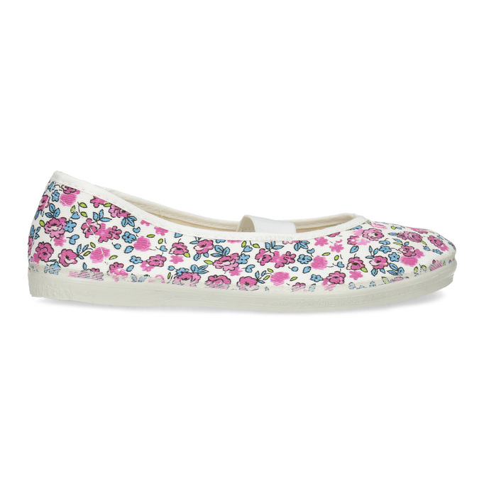 Children's patterned gym shoes bata, white , 379-5001 - 19