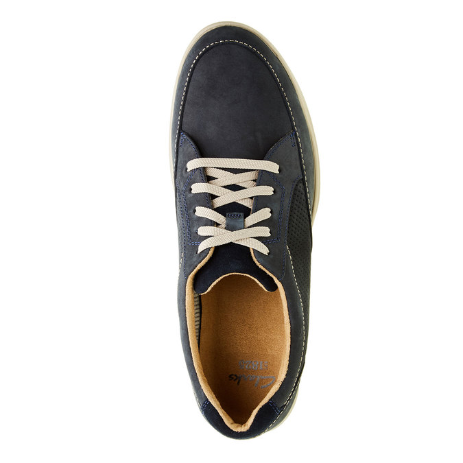 Men´s shoes made of brushed leather clarks, gray , blue , 826-9006 - 19