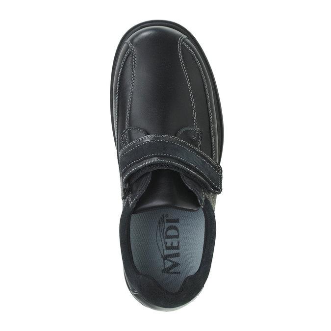 Leather Sneakers bata, black , 834-6001 - 19