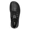 Casual leather low shoes clarks, black , 624-6004 - 19