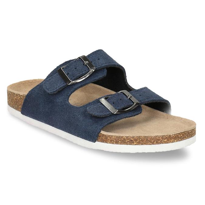 Children's blue slippers de-fonseca, blue , 373-9600 - 13