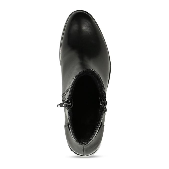 Ladies' ankle shoes bata, black , 694-6600 - 17