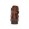 Leather ankle boots with a buckle bata, brown , 594-4602 - 17