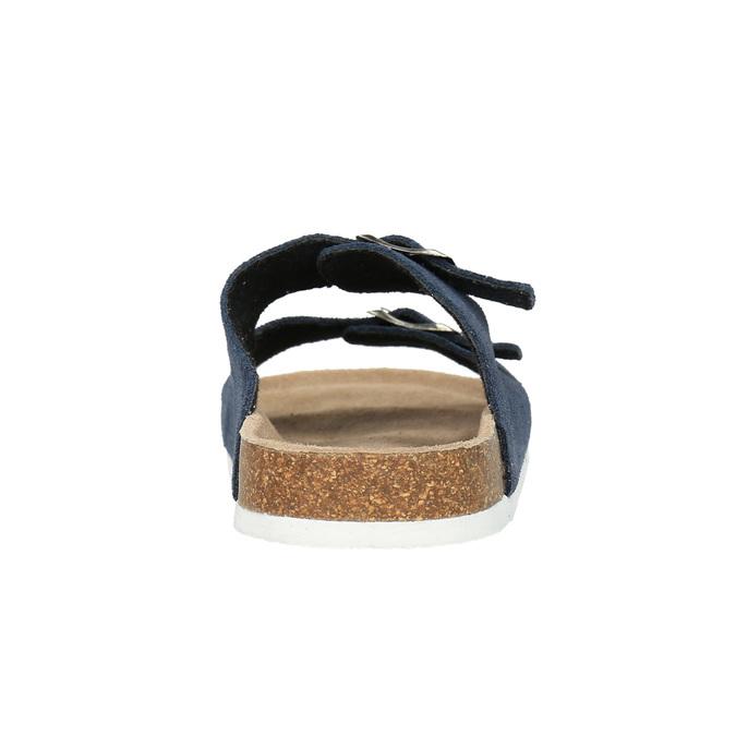 Men's leather slippers de-fonseca, blue , 873-9610 - 17