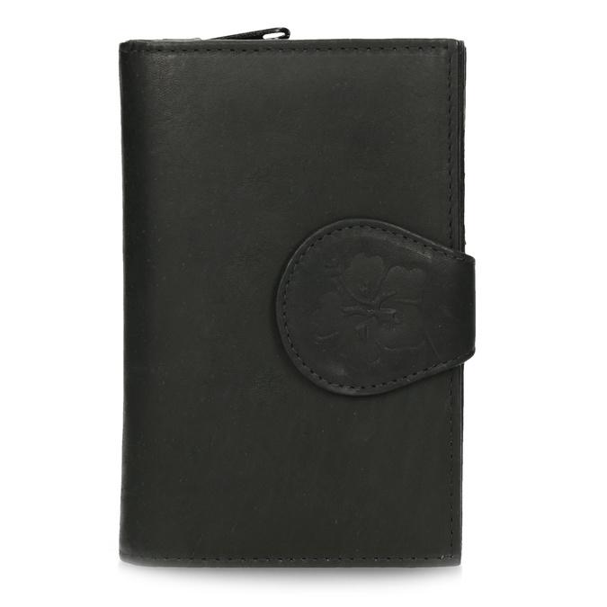 Ladies' leather purse bata, black , 944-6155 - 26