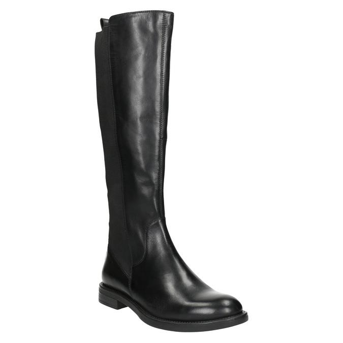 Ladies' leather high boots, no zip vagabond, black , 594-6003 - 13