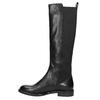 Ladies' leather high boots, no zip vagabond, black , 594-6003 - 26