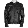 Leather jacket with trendy quilting bata, black , 974-6142 - 13