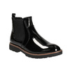 Patent leather Chelsea Boots with an eye-catching sole bata, black , 591-6603 - 13