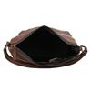 Brown leather handbag bata, brown , 964-3254 - 15