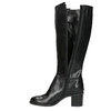 Ladies' high boots on a stable heel bata, black , 694-6361 - 19