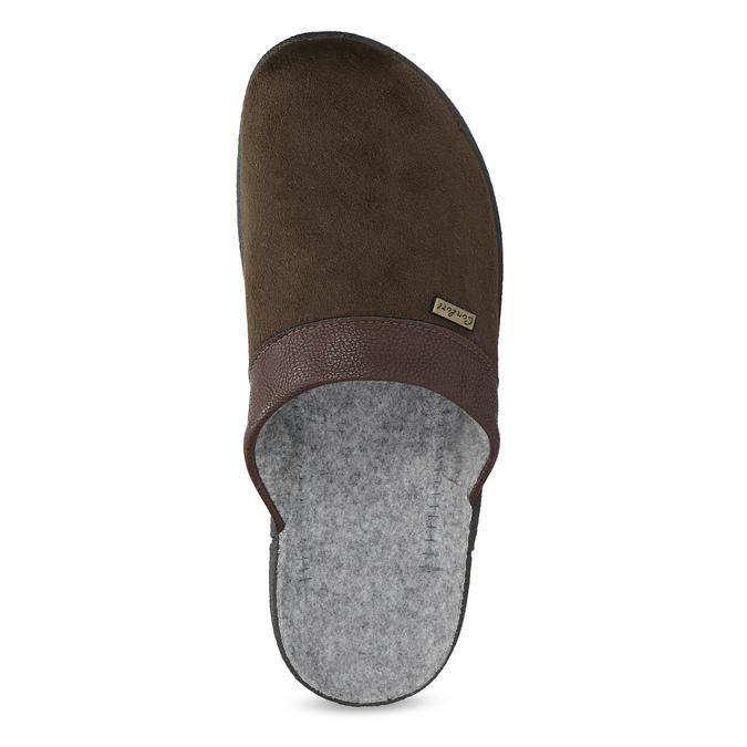 Men's slippers bata, brown , 879-4600 - 17