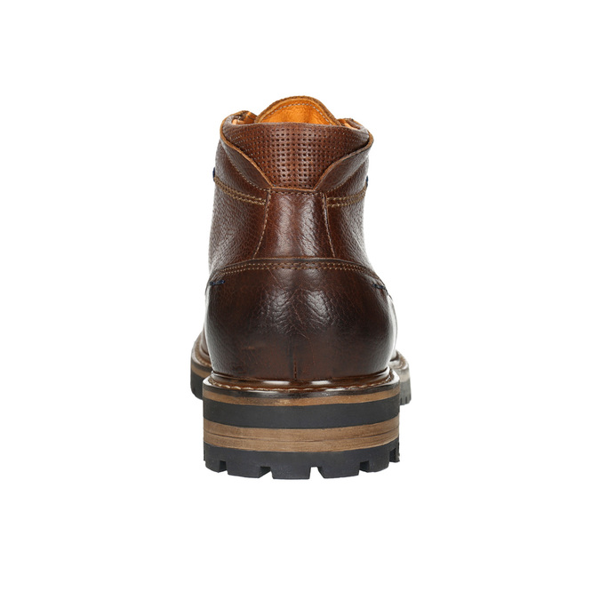 Men´s winter leather footwear bata, brown , 894-3672 - 17