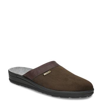 Men's slippers bata, brown , 879-4600 - 13