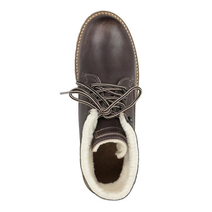 Ladies' leather winter boots weinbrenner, brown , 594-4491 - 19