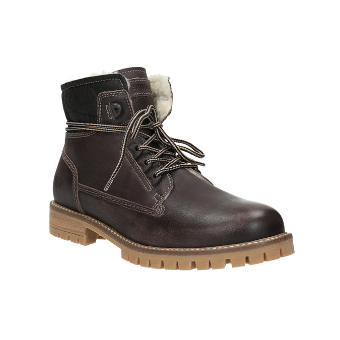 Ladies' leather winter boots weinbrenner, brown , 594-4491 - 13