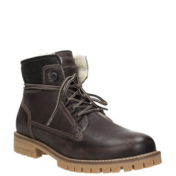 Ladies' leather winter boots weinbrenner, brown , 594-4491 - 13