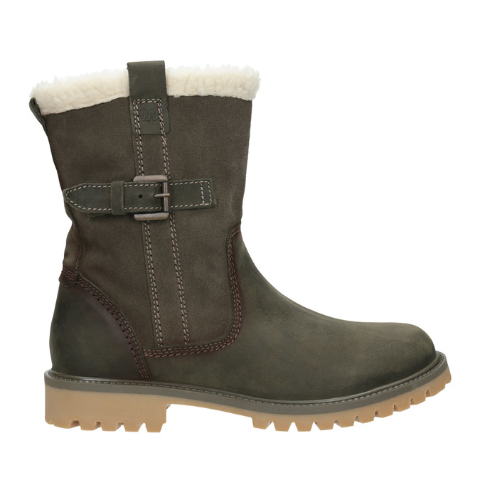 Ladies' winter boots with fur weinbrenner, khaki, 594-2455 - 26