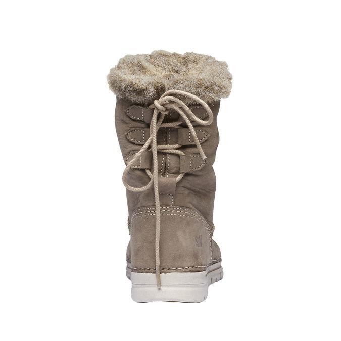 Ladies' winter boots with artificial fur weinbrenner, beige , 596-2334 - 17