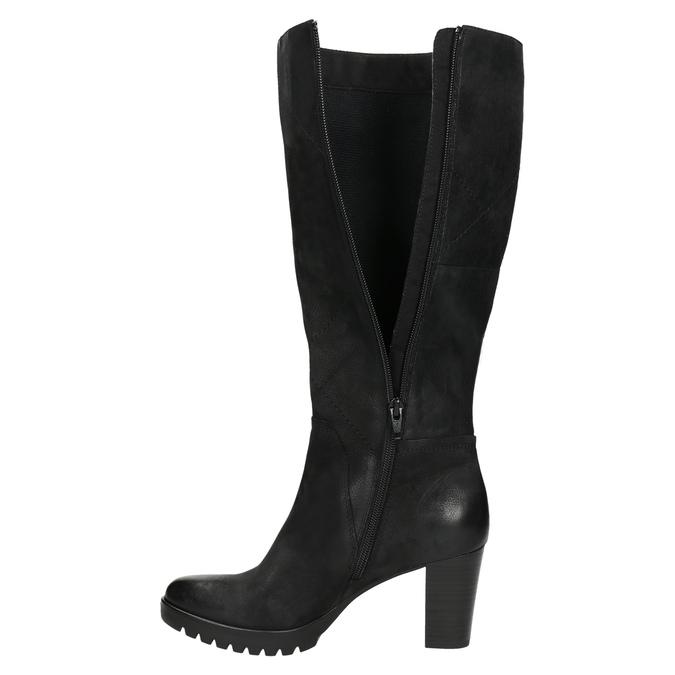 Women's high boots bata, black , 796-6601 - 26