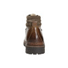 Leather Ankle Boots with Colorful Shoelaces bata, brown , 894-4180 - 17