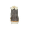 Leather ankle-cut sneakers with fur weinbrenner, gray , 596-2627 - 17