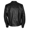 Leather jacket with trendy quilting bata, black , 974-6142 - 26
