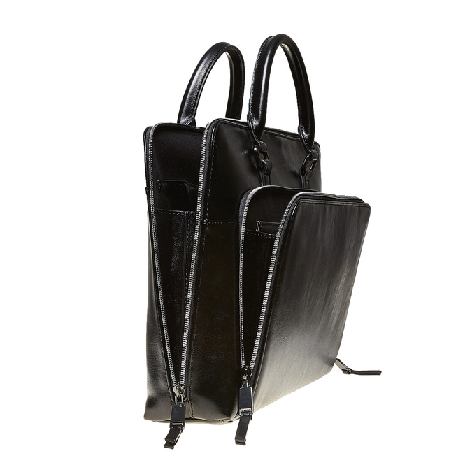 Elegant handbag for carrying in the hand bata, black , 961-6882 - 17
