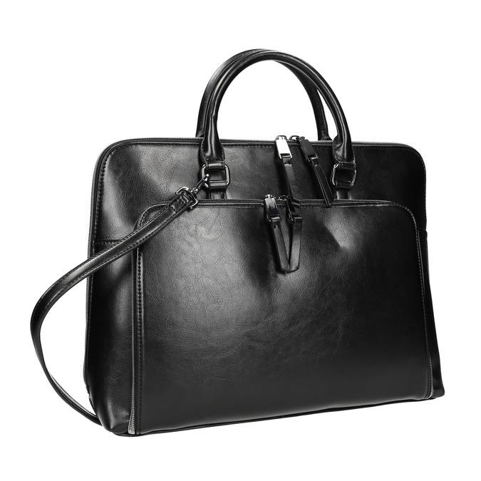 Elegant handbag for carrying in the hand bata, black , 961-6882 - 13