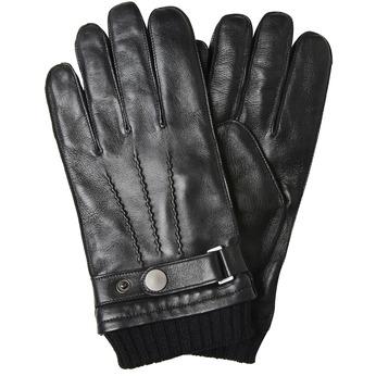 Men's leather gloves bata, black , 904-6127 - 13