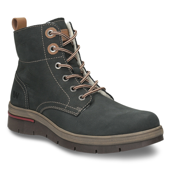 Ladies' leather  winter boots weinbrenner, gray , 596-2636 - 13