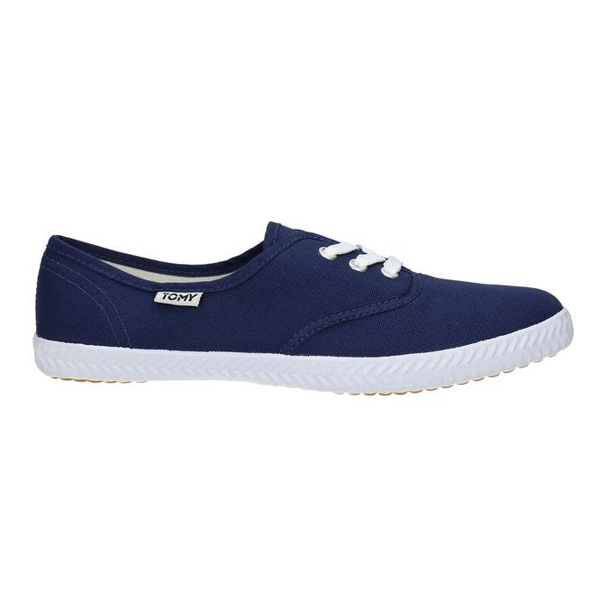 Blue textile sneakers tomy-takkies, blue , 519-9691 - 15