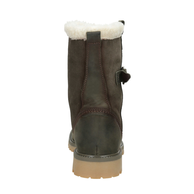 Ladies' winter boots with fur weinbrenner, khaki, 594-2455 - 16