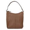Brown leather handbag bata, brown , 964-3254 - 26