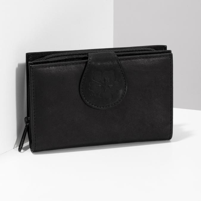 Ladies' leather purse bata, black , 944-6155 - 17